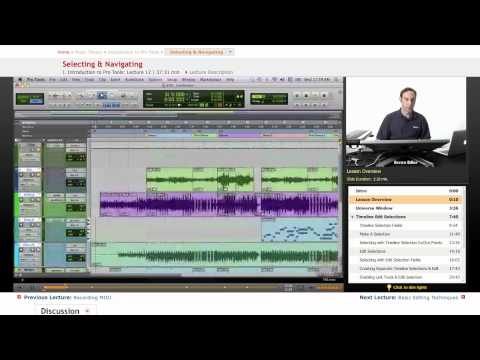 Pro Tools: Selecting & Navigating