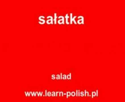 Polish food vocabulary