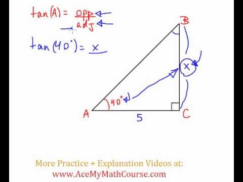 Tangent Ratio - Question #2 (Intro Trig)