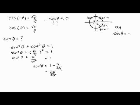 Trigonometry   Negative Angle Identity Problem   Find sinx given cosx and tanx is less then zero