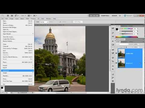 Photoshop tutorial: The Auto-Align Layers command | lynda.com