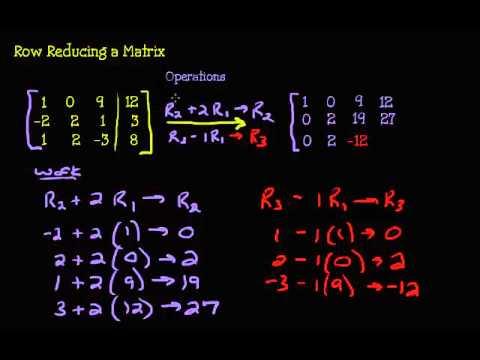 System of Equations - Row Reducing 3 x 4 Matrix
