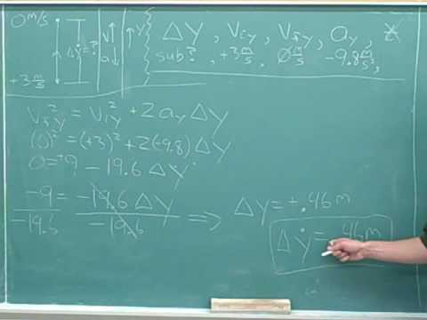 One-dimensional projectile motion (11)