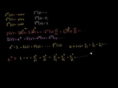 Taylor Series at 0 (Maclaurin) for e to the x