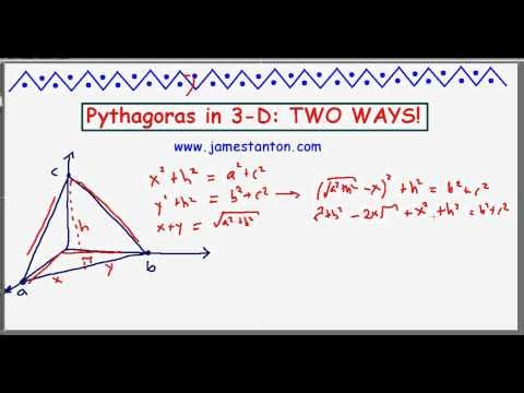 Pythagoras in 3-D: Two Ways! (TANTON Mathematics)