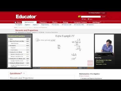 Pre Algebra: Percents and Proportions