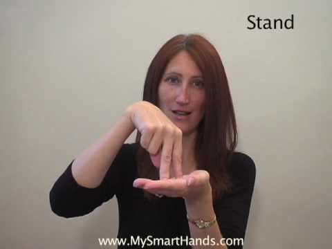 stand - ASL sign for stand