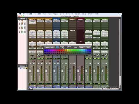 Pro Tools: Utilizing the Color palette and window arrangements | lynda.com