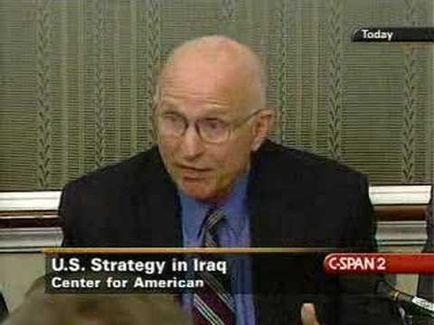 Strategic Reset: US Senate Briefing on Iraq Policy Part 1