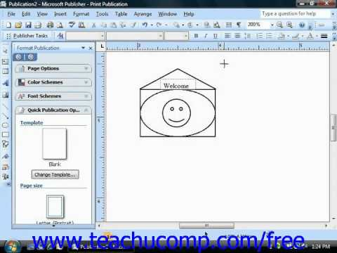 Publisher 2003 Tutorial Drawing Freeform Object XP 2007 Microsoft Training Lesson 5.5