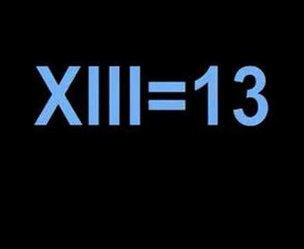 Roman Numerals  1-25 ( 1-XXV )