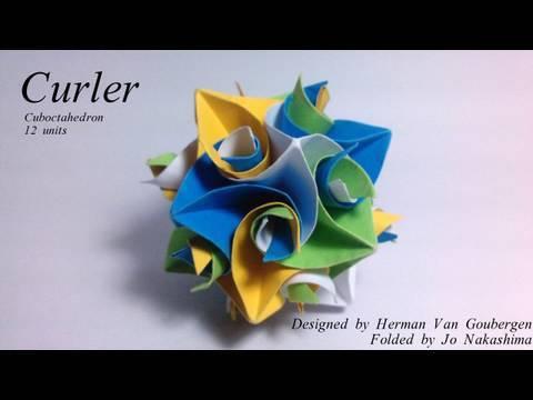 Origami Curler Cuboctahedron (Herman Van Goubergen)