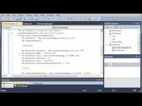 Visual Basic Tutorial - 49 - Events