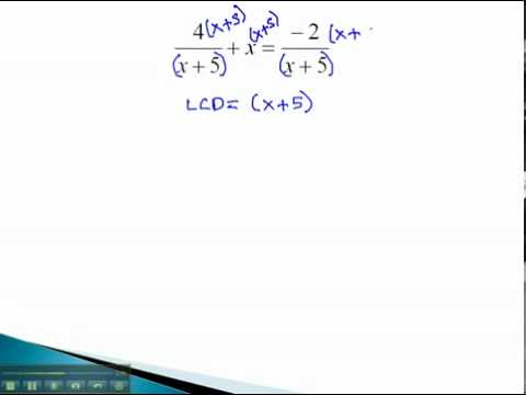 Rational Equations - Clear Denominator