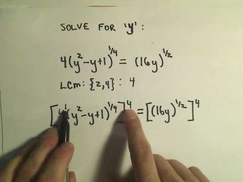 Solving an Equation Involving Rational Exponents - Example 2