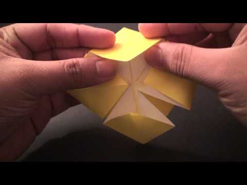 Origami Daily - 061: Flower Bowl with Crane (Tsuru) Cover (By Suhas) -  TCGames [HD]