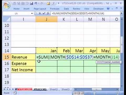 YTL Excel #130: Income Statement from Excel Table: Array For