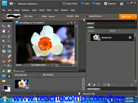Photoshop Elements 9.0 Tutorial Blurring & Sharpening Images Adobe Training Lesson 13.6