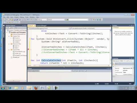 Visual C++ 2010 Express Tutorial 4 - Functions