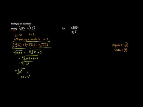Product of nth Root of A and nth Root of B, is equal to nth root of A X B