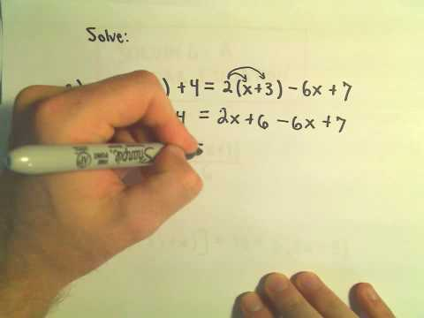 Solving Linear Equations - Example 1