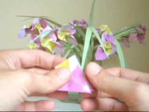 Origami Flower with a Swirled Center
