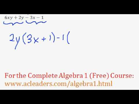 Polynomials - Factoring by Grouping Question #8