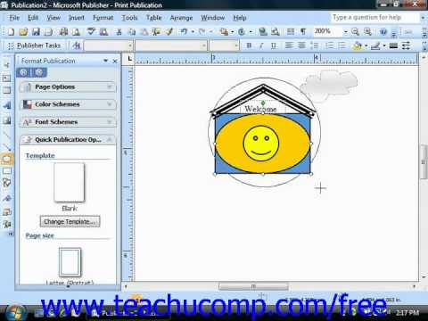 Publisher 2003 Tutorial Working with Layers Microsoft Training Lesson 6.5