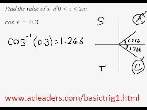 Solving simple trig equation (in radians) - EASY!!!! (pt.2)