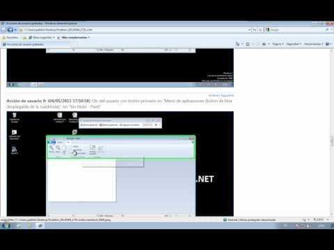 Windows 7 - Grabación de acciones de usuario