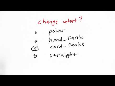What To Change Solution - CS212 Unit 1 - Udacity