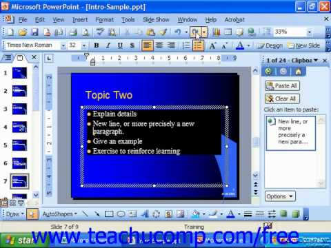 PowerPoint 2003 Tutorial Using Undo & Redo Microsoft Training Lesson 7.9