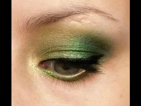 St.patrick's day green smokey eye with glitter tutorial