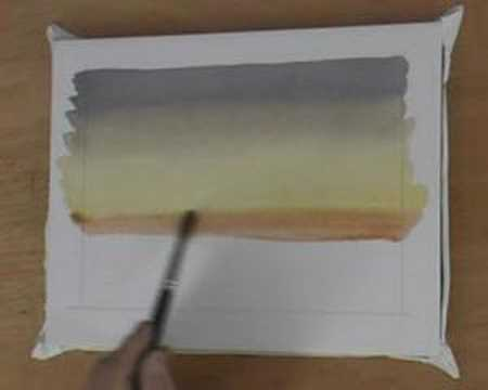Watercolor Sky For Beginners - How To Paint a Variegated Wash