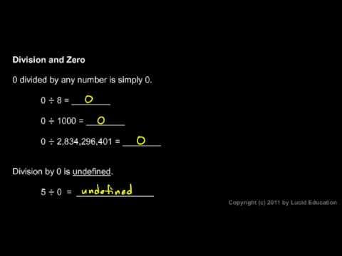 Prealgebra 1.6d - Division and Zero