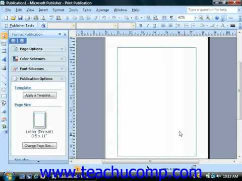 Publisher Tutorial Creating a Blank Presentation Microsoft Training Lesson 1.4