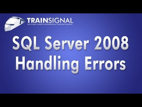 SQL Server 2008 - Development - Handling Errors