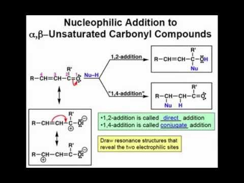 Nucleophile Addition to alpha, beta-Unsaturated Carbonyls