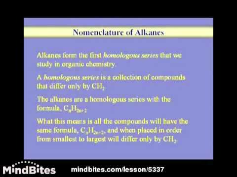 Organic Chemistry Lesson: Alkanes 1