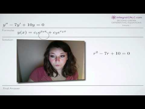 Second-Order Differential Equations Example 1