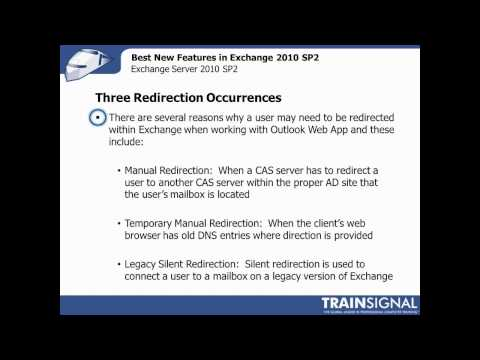 TrainSignal Webinar: Best New Features in Exchange 2010 SP2