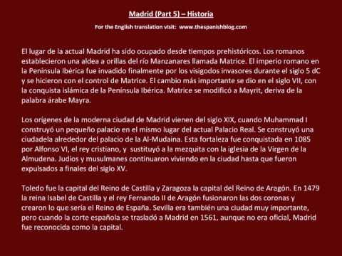 Spanish English Parallel Texts Madrid (Part 5) Historia