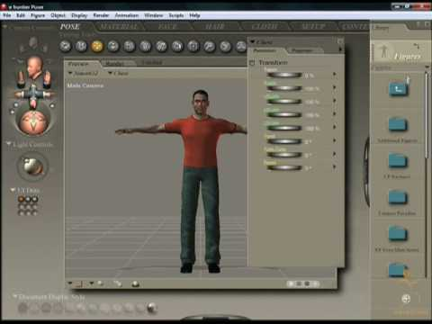Poser 7 Tutorial - Beginners guide to the Library in Poser