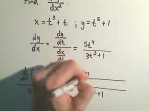 Parametric Curves - Finding Second Derivatives