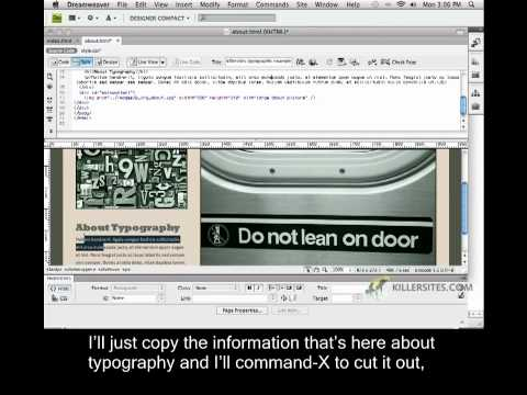 Photoshop for the Web Closed Captioned - Two Column About Page