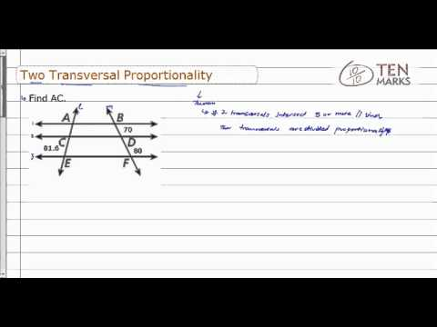 Two-Transversal Proportionality