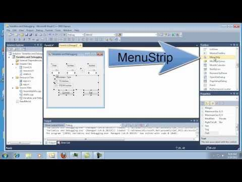Visual C++ 2010 Express Tutorial 6 - Container Controls - Group Box RadioButtons