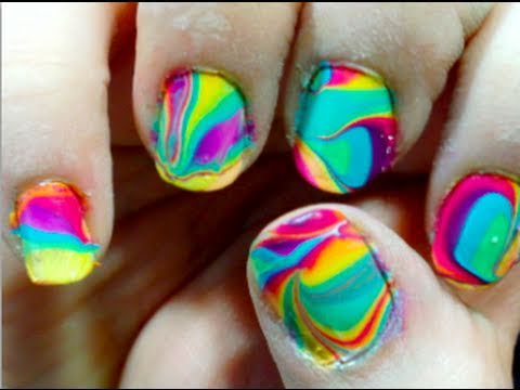 Tie Dye Your Nails! (water marbling)