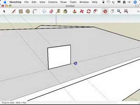 SketchUp: When all else fails, use the Line tool