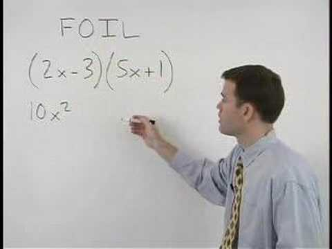 The FOIL Method - Multiplying Binomials - YourTeacher.com
